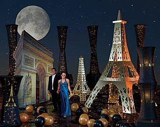 night   city party theme parisian romance night