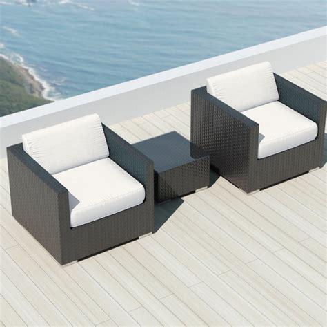 Sunbrella Sectional Sofa Luxxella Bistro 3pc Sunbrella Outdoor Sectional Sofa Set