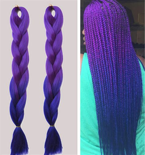 purple ombre braiding hair fashion ombre braiding hair two toned kanekalon jumbo
