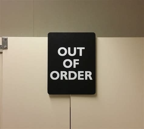 bathroom stall signs out of order restroom stall sign