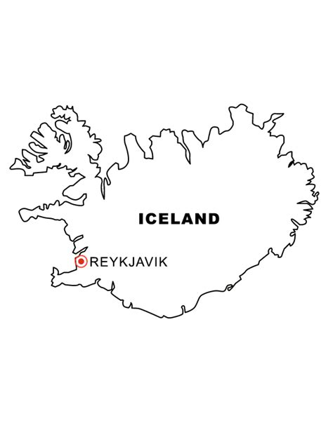 Iceland Map Coloring Page | iceland coloring pages coloring pages