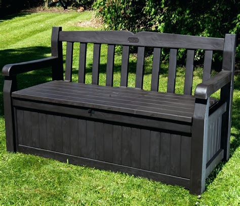 outdoor wicker storage bench outdoor wicker bench with storage