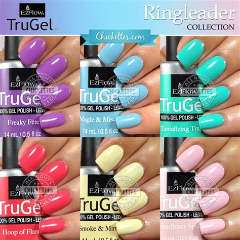 Hair Style Gel Name Colors by Ezflow Trugel Ringleader Collection Swatches By Chickettes