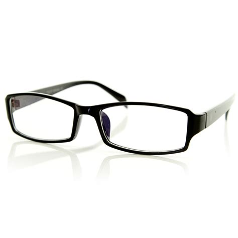 modern rectangular basic frame clear lens fashion small
