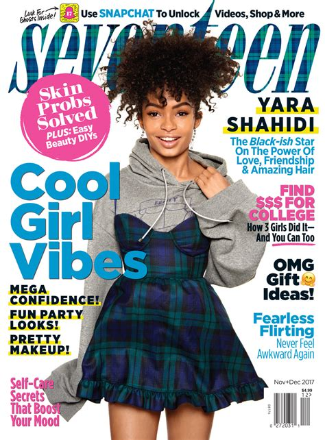 Seventeen Magazine Sweepstakes - yara shahidi covers the november december issue of seventeen magazine tom lorenzo