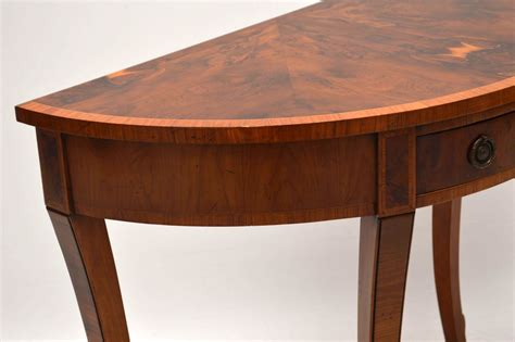Yew Wood Console Table Antique Yew Wood Console Side Table Marylebone Antiques Sellers Of Antique Furniture