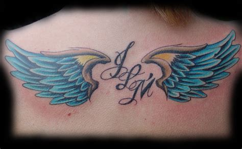 colored wings tattoo large image leave comment