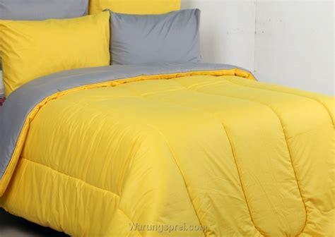 Bellyna Sprei Polos 2 In 1 Kuning Abu Uk 160 180x200 sprei abu kombinasi kuning uk 200 t 25cm warungsprei