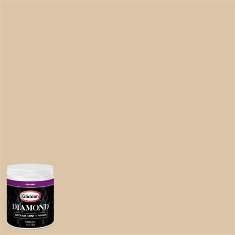 glidden 8 oz hdgo63 whispering wheat eggshell interior paint with primer tester
