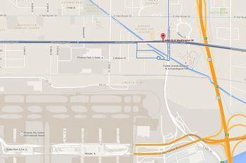 phoenix airport rental car center map  directions