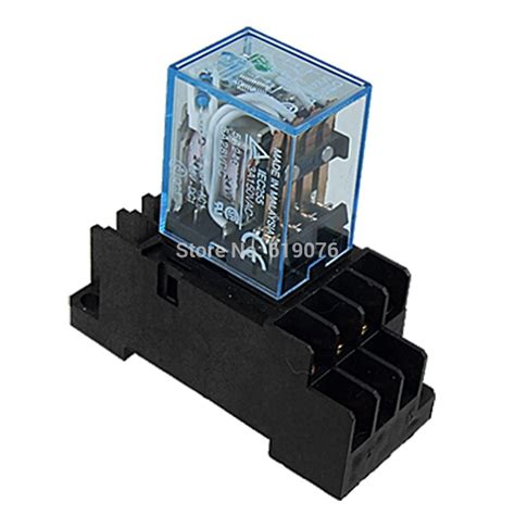 Relay L time relay 220v 240v ac coil 4pdt power relay my4nj hh54p l 14 pin w pyf14a socket base free