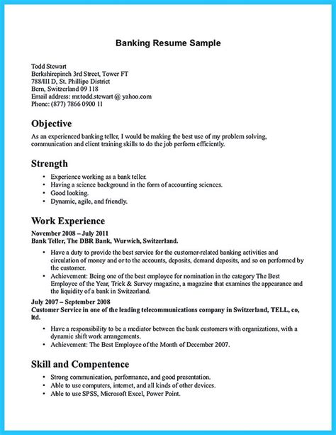 Resume For Bank Application Most Of Who Are About To Apply For As A Bank Teller They Consider To Take Learn From