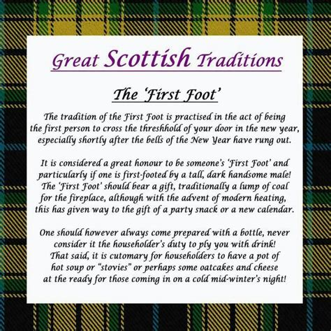 scottish traditions first foot scotland pinterest