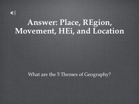 5 themes of geography jeopardy geography ppt
