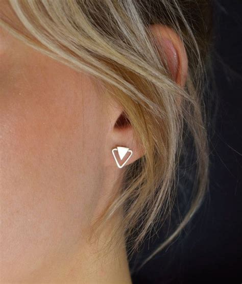 Geometry Ear Stud 25 best ideas about stud earrings on studs