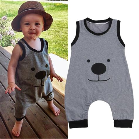 Boogybaby Sleeveless Boy 12 18 baby boys summer clothes sleeveless bodysuit