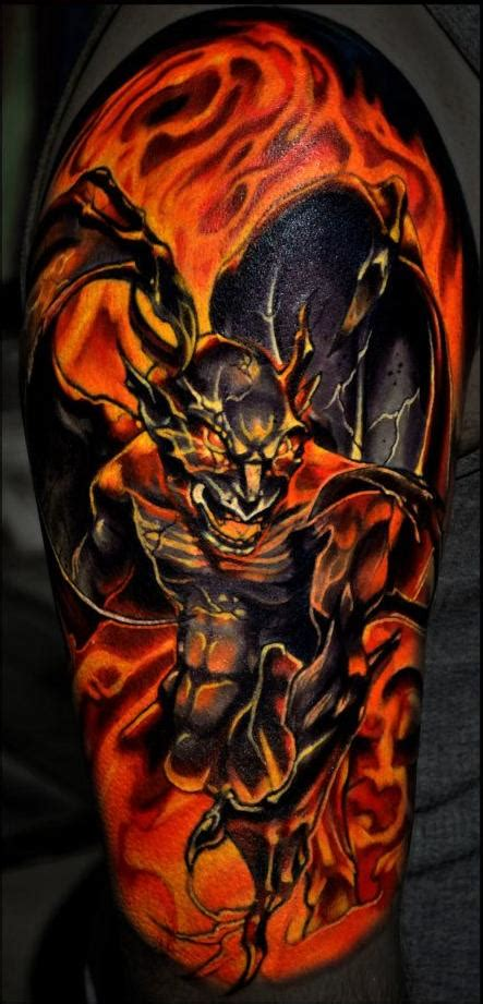 henna tattoo artist fort lauderdale my gargoyle in flames by leif in fort