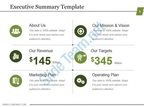 Executive Summary Template Powerpoint Show Powerpoint Slide Images Ppt Design Templates Executive Powerpoint Templates