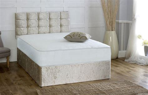 divan bed without headboard coil sprung crushed velvet orthopaedic divan bed free