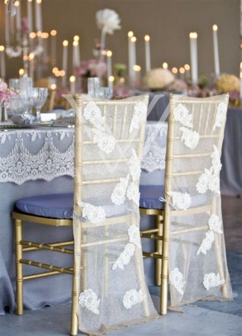 Elegant Lace Reception Chair Cover decoration   by