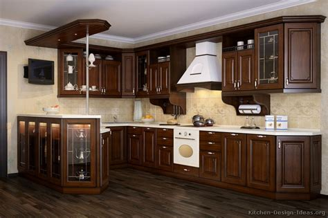 dark wood cabinet kitchens italian kitchen design traditional style cabinets decor