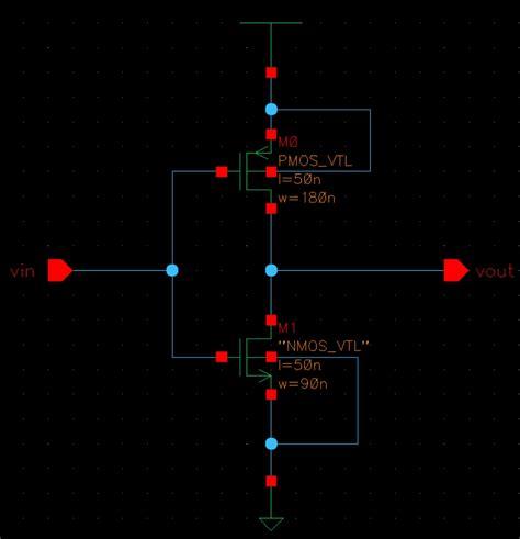 cmos inverter layout design cadence ee5323 vlsi design i using cadence