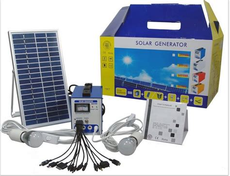 portable solar power generator 20w solar power system with