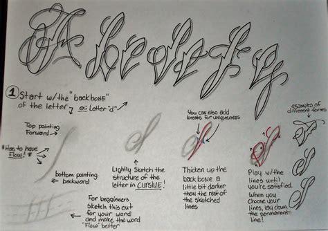 tattoo script fancy cursive tutorial pt 1 by 814ck5t4r on