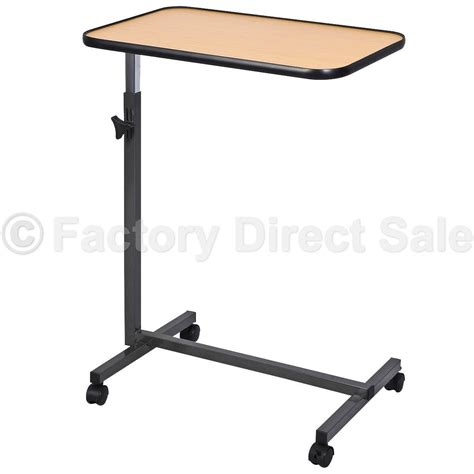 hospital bed tray table overbed laptop food tray table rolling desk hospital over