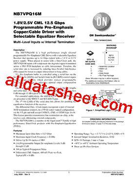 transistor vpq nb7vpq16m データシート pdf on semiconductor