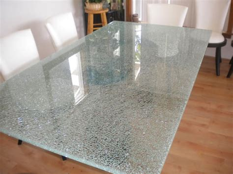 crackle glass table l crackle glass table top yelp