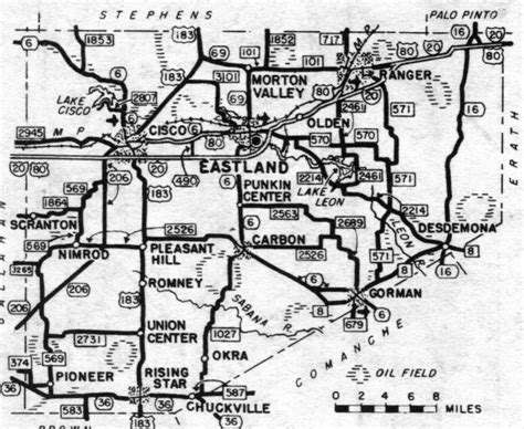 eastland texas map eastland county texas maps and gazetteers