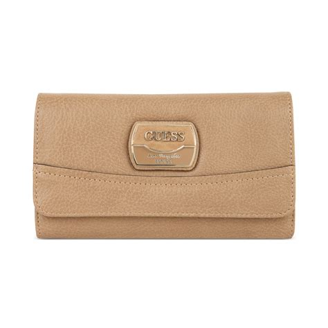 Guess Wallet 10 guess handbag hazelton slim clutch wallet in beige camel