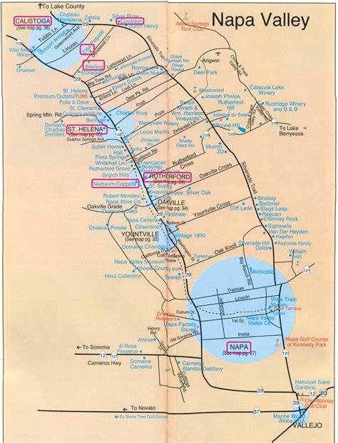 napa valley winery map napa valley tourist map napa california mappery