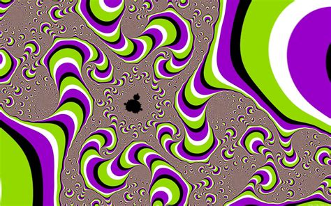 psychedelic screen melt illusion