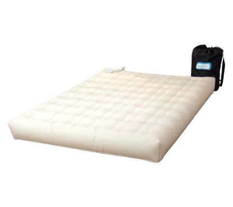 aero air bed aero bed premier durasuede queen air mattress built in pump page 1 qvc com