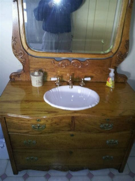 convert dresser into vanity convert an old dresser into a sink for the home
