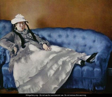 manet reclining woman portrait of the woman on a blue sofa edouard manet