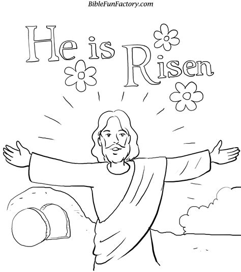 Jesus Resurrection Coloring Pages easter jesus coloring pages free large images