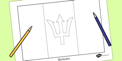 5 themes of geography barbados barbados flag colouring sheet countries geography flags