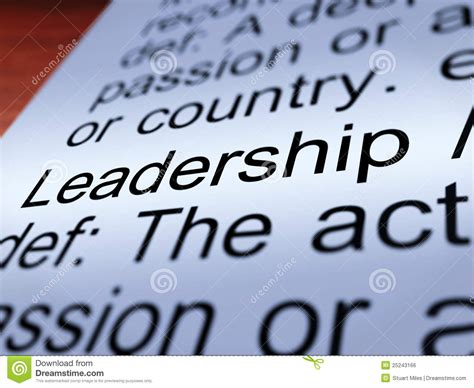 leadership definition closeup showing achievement royalty free stock image image 25243166