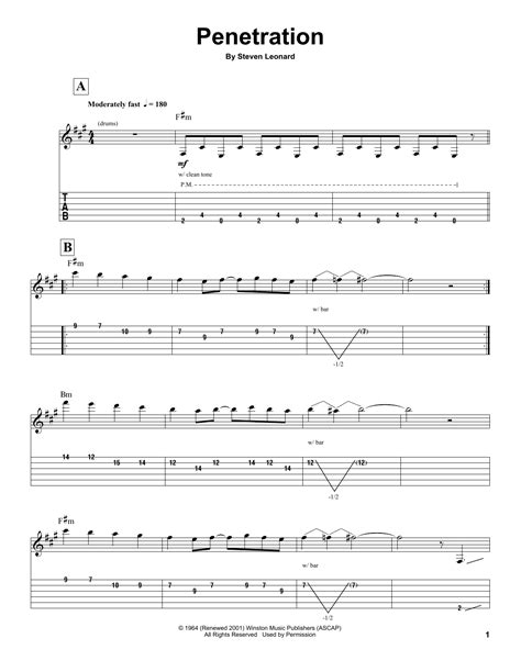 imagenes retro guitar tab penetration by the ventures guitar tab play along