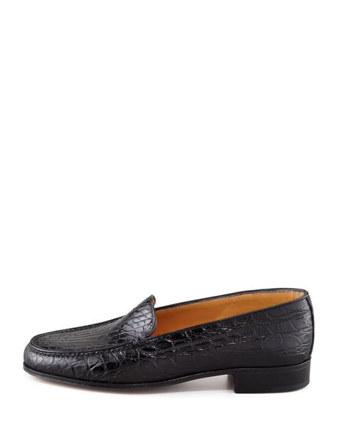 gravati s shoes gravati crocodile loafer in black lyst