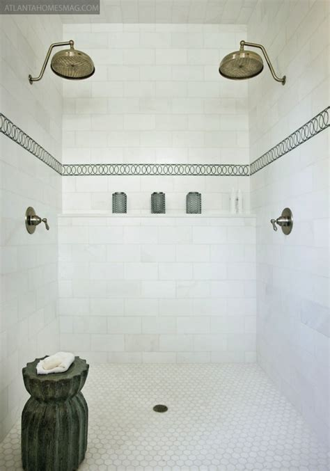 his and her bathroom his and her shower heads mediterranean bathroom
