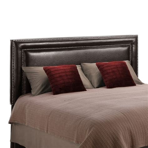 faux leather headboard full faux leather upholstered full queen headboard in espresso