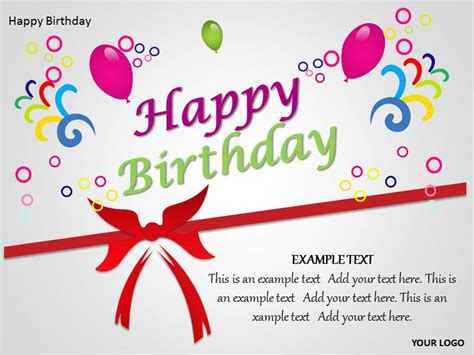 Happy Birthday Template Tristarhomecareinc Birthday Card Powerpoint Template