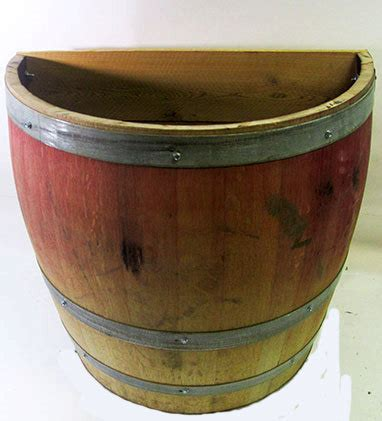 Oak Barrel Planter by Oak Wood Wine Barrel Wall Planter Handcrafted From Used