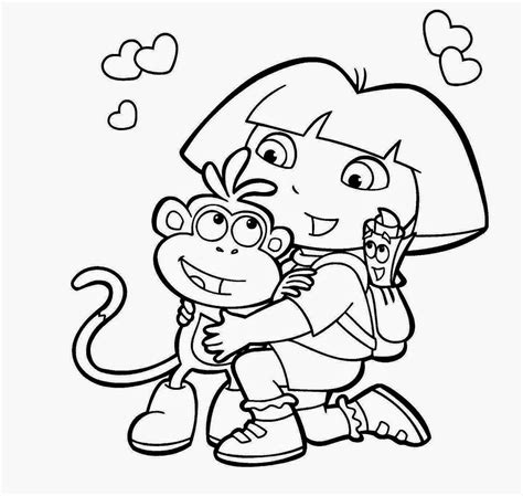 cute dora coloring pages colour drawing free wallpaper dora and boots coloring