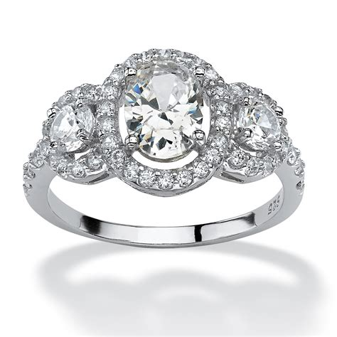 2 21 tcw oval cut cubic zirconia engagement anniversary