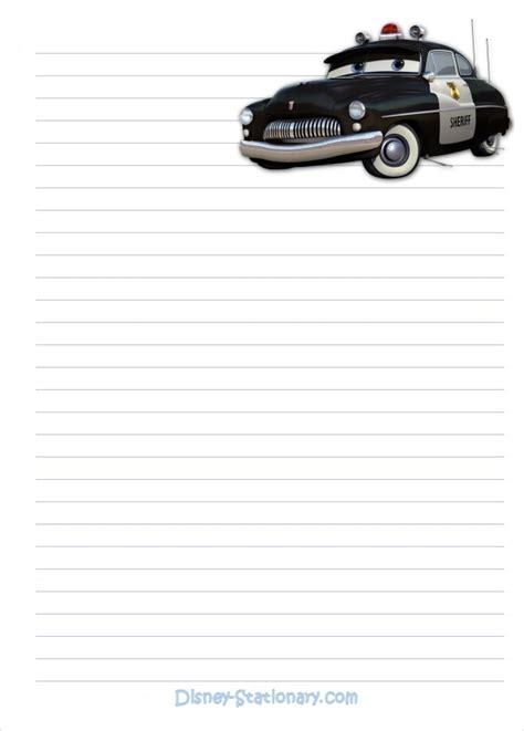 Stationary Cars 2 디즈니 캐릭터 편지지 다운받아서 사용하세요 와이프로거 알파맘 젤리맘 네이버 블로그